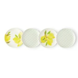 Kate Spade New York Lemon Melamine Coaster Set NIB